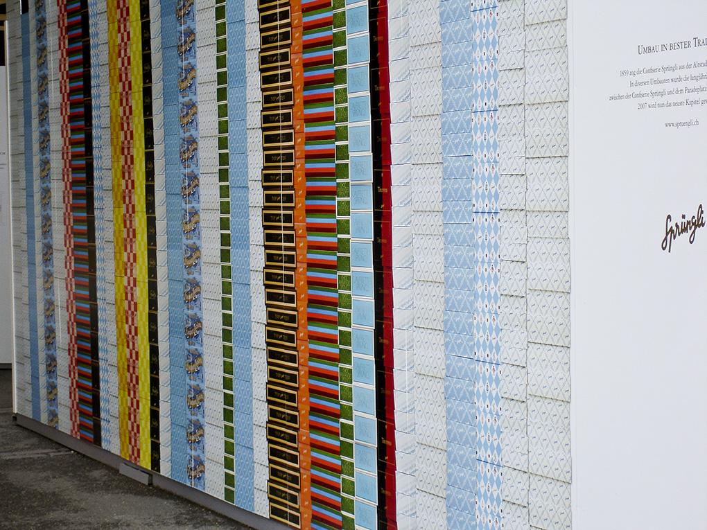 Baustellendekoration, Sprüngli, Zürich, CH