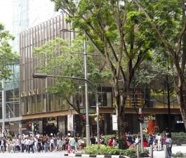 und nochmal Orchard Road, Gucci Store, Singapur